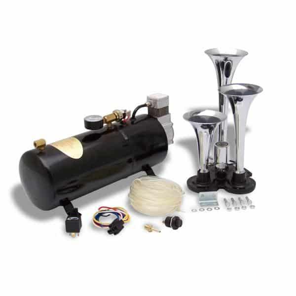 Habanero Tri Trumpet High Output Train Truck Air Horn Kit
