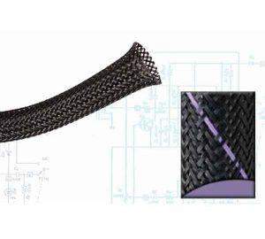 2 1/2″ Black and Purple Thin Strip Ultra Wrap Wire Loom – 50 Feet