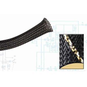 1/8″ Black and Gold Thin Strip Ultra Wrap Wire Loom – 250 Feet