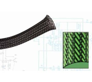 1 1/2″ Green and Black Ultra Wrap Wire Loom – 50 Feet