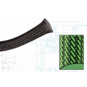 1/4″ Green and Black Ultra Wrap Wire Loom – 200 Feet