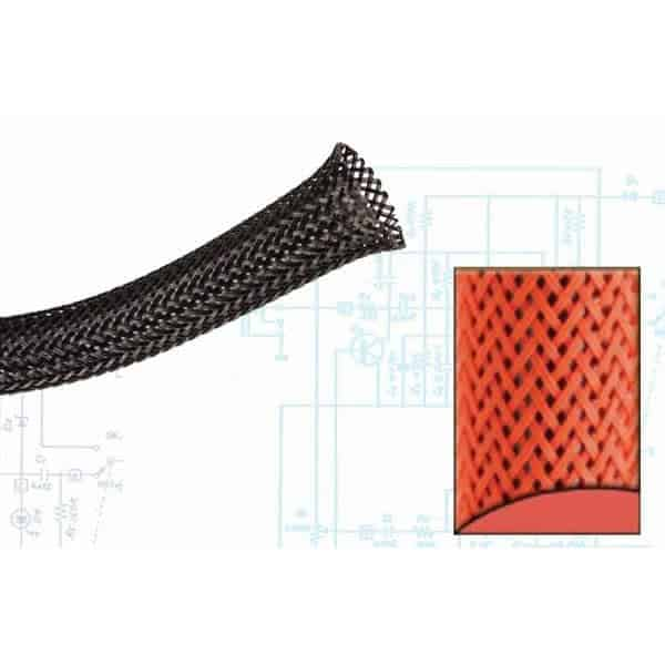1/8″ Neon Red Ultra Wrap Wire Loom – 250 Feet