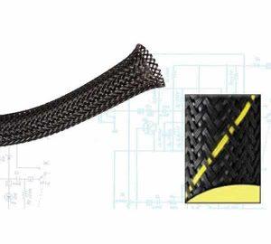 1 1/2″ Safety Strip Yellow / Black Ultra Wrap Wire Loom – 50 Feet