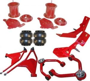 1961-1969 Lincoln Continental Front Air Suspension, Bag, Bracket and Control Arm Kit (Street Scraper) (no fittings)