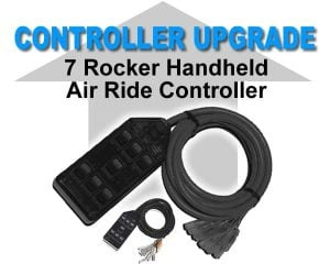 7 Rocker Universal Air Bag Switchbox Controller – Black **UPGRADE**