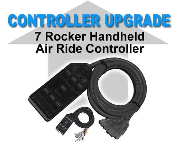 7 Rocker Universal Air Bag Switchbox Controller - Black **UPGRADE**