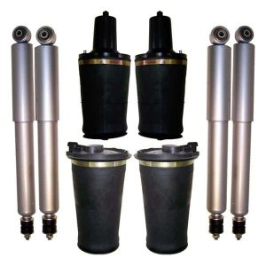 1995-2002 Land Rover Range Rover Regular Gen II 4Wheel Air Ride Suspension Air Spring Bags & Gas Shocks Replacement Kit