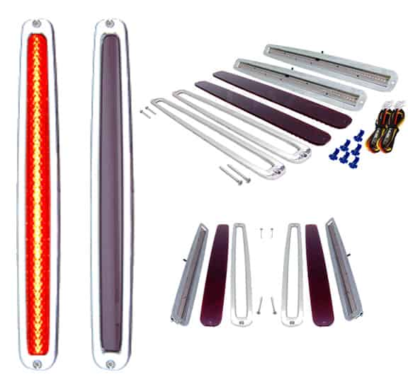 89-93 Cadillac Style Billet LED Tail Light Kit (3-WIRE) (Pair)