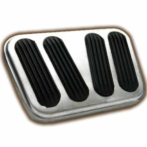 Billet Brake / Clutch Pedal Pad with Rubber Insert