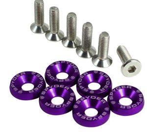 6pcs Anodized Washer Set – Purple