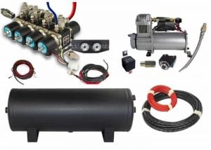 Air Management System (8 Valve Air Manifold Kit w/Compressor, Tank, Switches and Gauges) – 4 Corners