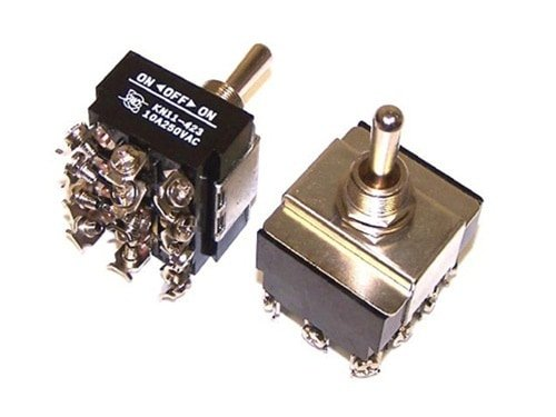 8 Point - 12 Prong Momentary Heavy Duty Toggle Switch