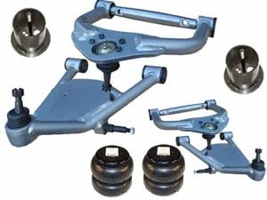 1982-1988 Oldsmobile Cutlass Front Air Kit (Upper & Lower Control Arms / Bags / Brackets)