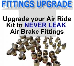 NO LEAK Air Brake Fittings **UPGRADE**