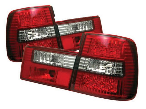 88-95 BMW E34 5-Series LED Altezza Tail Lights – Red & Clear