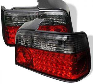 92-98 BMW E36 3-Series 4DR LED Tail Lights – Red Smoke