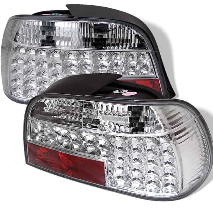 95-01 BMW E38 7-Series LED Tail Lights - Chrome