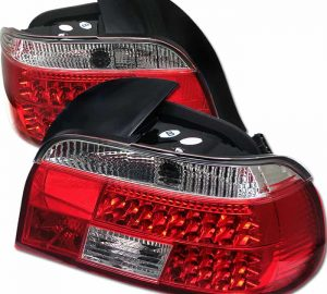 97-03 BMW E39 5-Series LED Tail Lights – Red Clear
