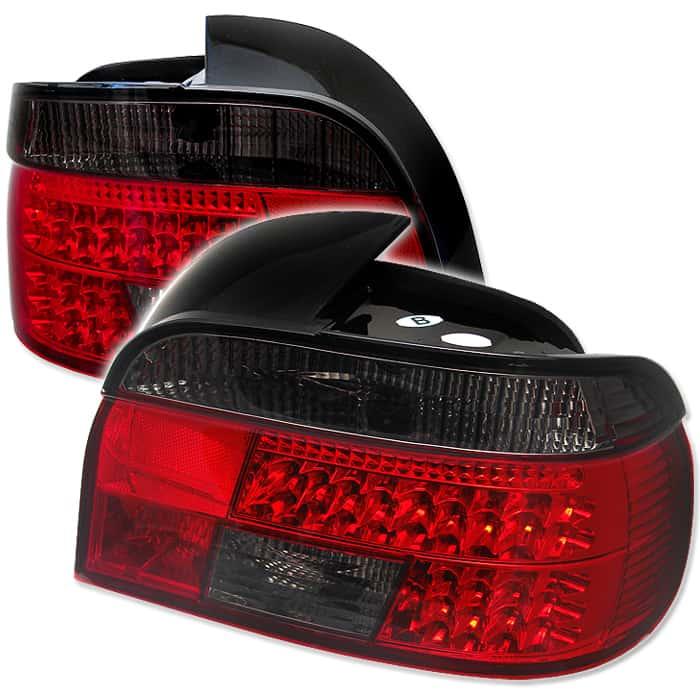 97-03 BMW E39 5-Series LED Tail Lights - Red Smoke