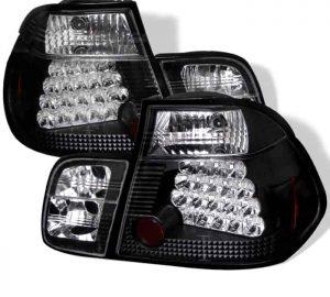 99-01 BMW E46 3-Series 4DR LED Altezza Tail Lights – Black