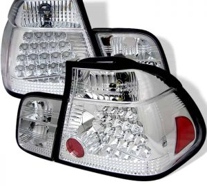 99-01 BMW E46 3-Series 4DR LED Altezza Tail Lights – Chrome