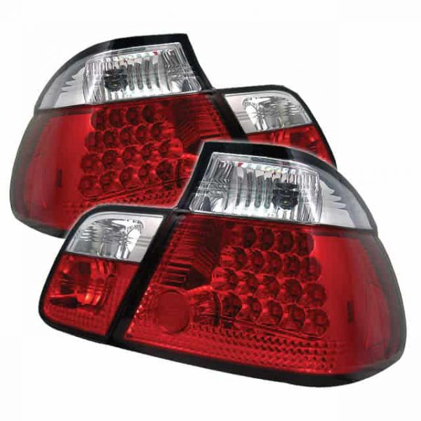 99-01 BMW E46 3-Series 4DR LED Altezza Tail Lights – Red Clear