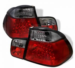 99-01 BMW E46 3-Series 4DR LED Altezza Tail Lights – Red Smoke