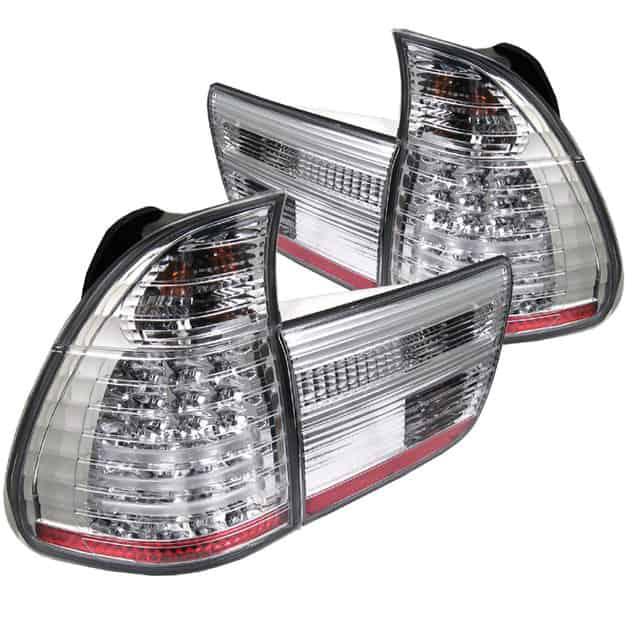 00-05 BMW E53 X5 4PCS LED Altezza Tail Lights - Chrome