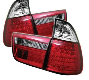 00-05 BMW E53 X5 4PCS LED Altezza Tail Lights – Red Clear
