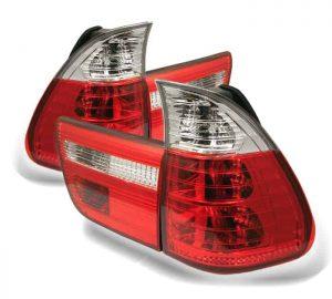 00-05 BMW E53 X5 4PCS Tail Lights – Red Clear