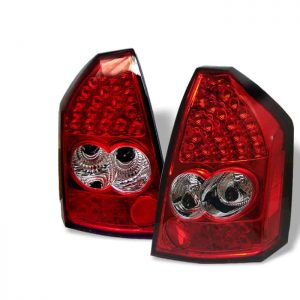 05-07 Chrysler 300 LED Tail Lights – Red & Clear