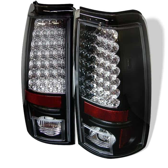 03 06 Chevy Silverado Gmc Sierra 1500 2500 3500 Led Tail Lights Black