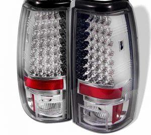 03-06 Chevy Silverado, GMC Sierra 1500/2500/3500 LED Tail Lights – Chrome