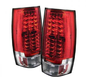 07-09 Chevy Suburban / Tahoe / GMC Yukon / Denali LED Tail Lights – Red Clear
