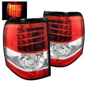 02-05 Ford Explorer Altezza LED Tail Lights – Red & Clear