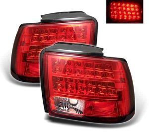 99-04 Ford Mustang LED Altezza Tail Lights – Red Clear