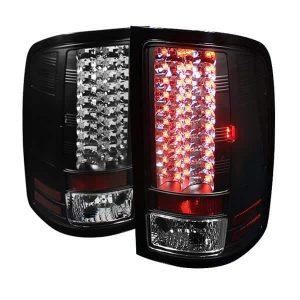 07-12 GMC Sierra Pickup Truck LED Tail Lights – Black