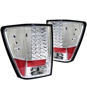 05-07 Jeep Grand Cherokee LED Tail Lights – Chrome