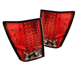 05-07 Jeep Grand Cherokee LED Tail Lights – Red Clear