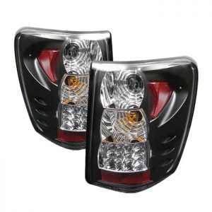 99-04 Jeep Grand Cherokee LED Tail Lights (Version 2) – Black