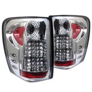 99-04 Jeep Grand Cherokee LED Tail Lights – Chrome