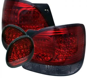 98-05 Lexus GS300, GS400 LED Tail Lights – Red Clear