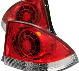 01-03 Lexus IS300 LED Tail Lights – Red Clear