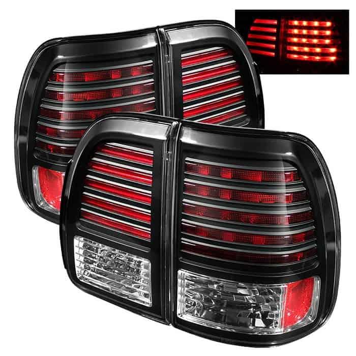 98-02 Lexus LX470 LED Tail Lights - Black