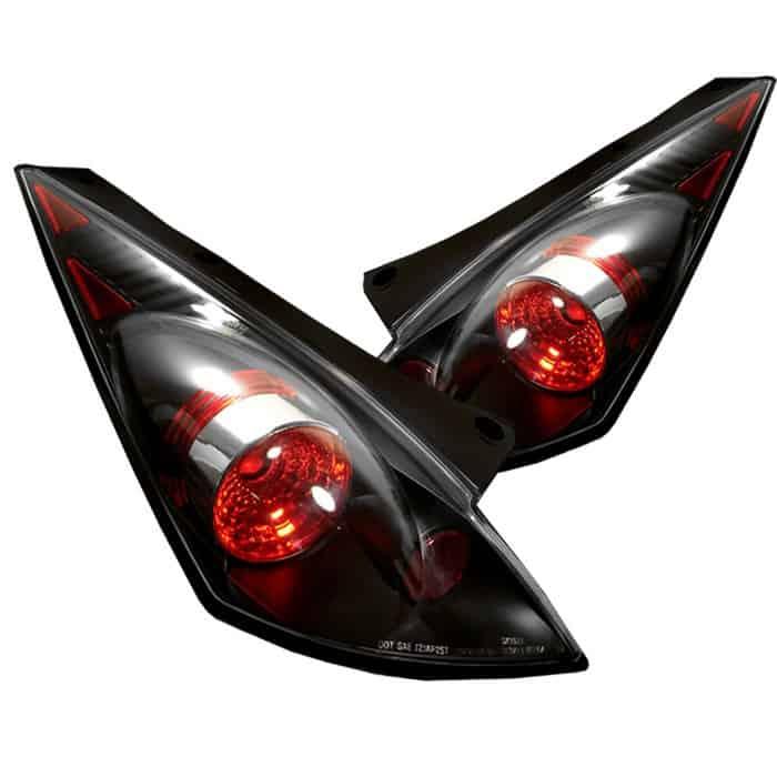 02 05 Nissan 350z Altezza Tail Lights Black