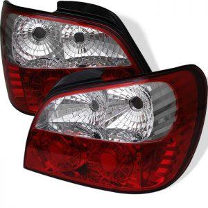 02-03 Subaru Impreza LED Tail Lights – Red Clear