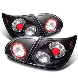 03-06 Toyota Corolla LED Altezza Tail Lights – Black