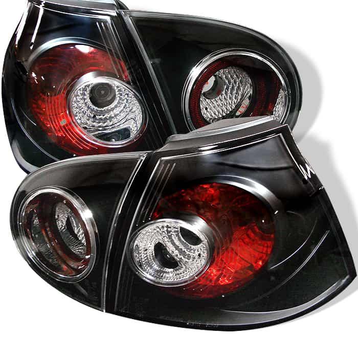 05-06 Volkswagen Golf Altezza Tail Lights - Black