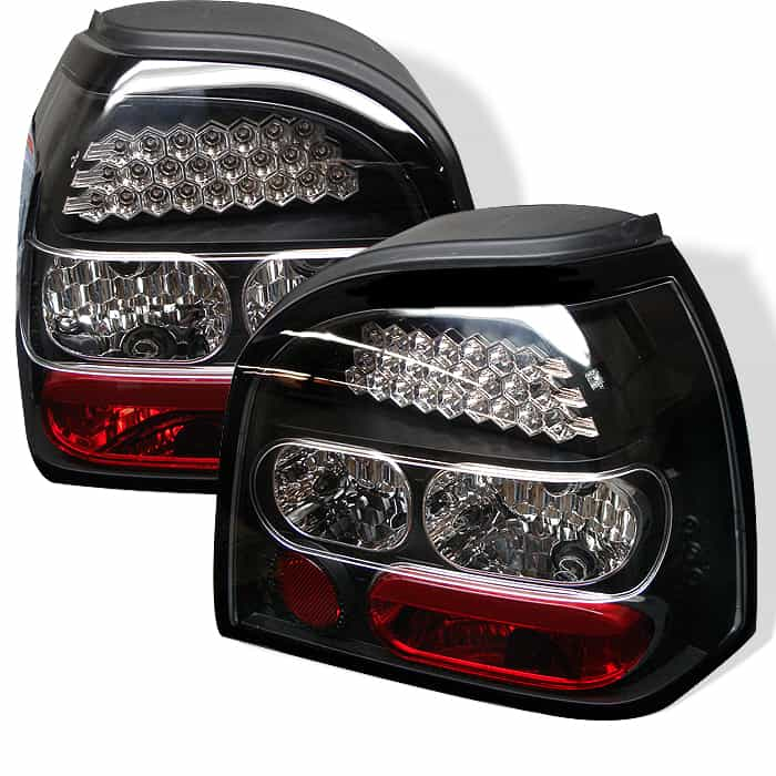 93-98 Volkswagen Golf LED Altezza Tail Lights - Black