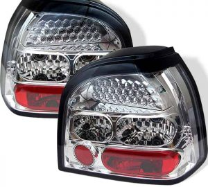 93-98 Volkswagen Golf LED Altezza Tail Lights – Chrome